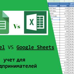 финансовый учет для предпринимателей в google таблицах и excel