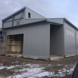 Construction of vegetable storages, cold chambers, RGS. installation of sandwich panels