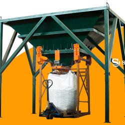 линия фасовки в биг-беги компакт-2  зерно  удобрения  гранулы  комбикорм  уголь